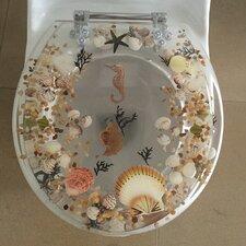 Sea Treasure Decorative Round Toilet Seat