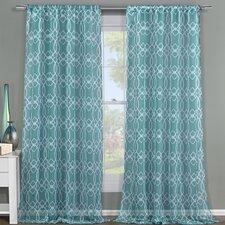 Newbella Geometric Sheer Curtain Panels (Set of 2)