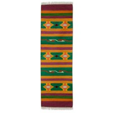 Hand Woven Brown/Green Area Rug