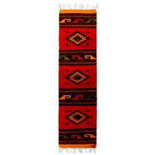Zapotec Red Hand Woven Area Rug