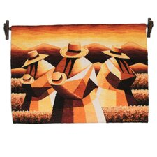 Wheat Field Hand Woven Andean Wool Tapestry