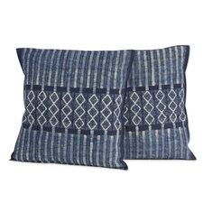 Enchanted Hills Hand Dyed Batik Cotton Pillow Cover (Set of 2)