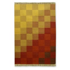 Hand Woven Yellow/Red Area Rug