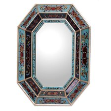 Elegant Hand crafted Reverse Painted Glass Mirror