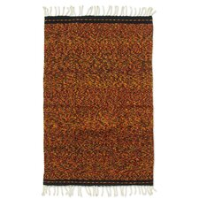 Zapotec Hand Woven Red/Yellow Area Rug