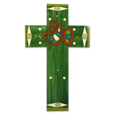 Peace and Hope Hand Painted Christianity Wood Cross Wall Décor