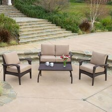 Bickford 4 Piece Deep Seating Group with Cushion