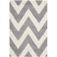 Kyleigh Hand-Tufted Silver/Ivory Area Rug