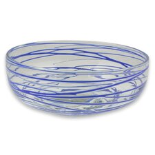Javier and Efren Blown Glass Salad Bowl