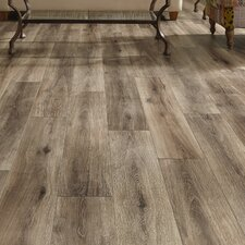 """Restoration™ Wide Plank 8"""" x 51"""" x 12mm Laminate in Brushed Gray"""