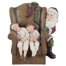 Chair and Child and Santa Claus Figurine