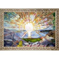 'The Sun' by Edvard Munch Framed Painting