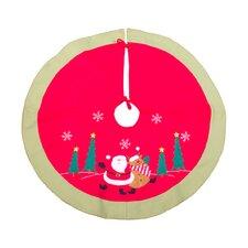 Santa and Reindeer Tree Skirt