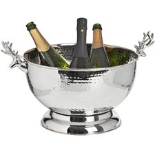 Nickel Wine Cooler with Stag Handle