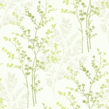 Fern Motif 10.05m L x 53cm W Roll Wallpaper