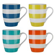Stripe 4 Piece Mug Set