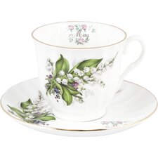 Flowers of the Month May 30cm Bone China Cup and Saucer