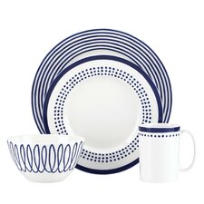 Charlotte Street East 4 Piece Place Setting, Service for 1