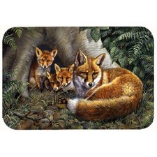 A Family of Foxes at Home Kitchen/Bath Mat