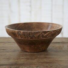 Fair Trade Wooden Leaf Design Fruit Bowl