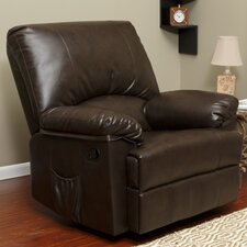 Marbled Leather Rocker Recliner With