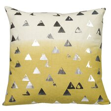Jenine Foil Triangles Throw Pillow
