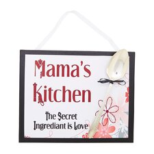 Mama's Floral Kitchen Sign Wall Décor
