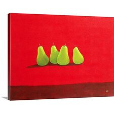 Pears on Cloth by Lincoln Seligman Graphic Art on Canvas