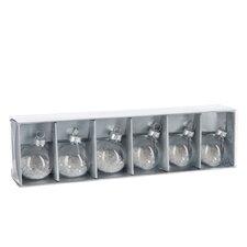 6 Piece Nametag Holders Star Glass Ball Ornament Set (Set of 6)