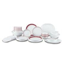 Crimson Trellis Living Ware 74 Piece Dinnerware Set, Service for 12