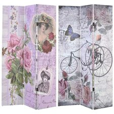 180cm x 120cm Lady/Bike Canvas Printed Screen 3 Panel Room Divider