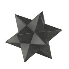 Metal 12 Point Stellated Icosahedron Sculpture