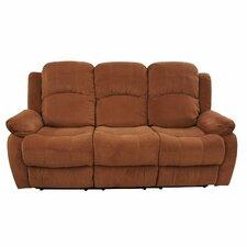 Traditional Brush Microfiber Reclining Sofa