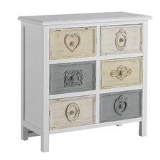 Wooden Tiroirs 6 Drawer Chest