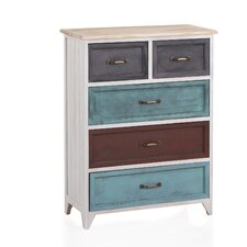 Wooden 5 Drawer Chest