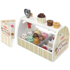 20 Piece Scoop and Serve Ice Cream Counter Set