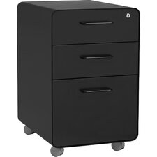 3-Drawer Mobile Vertical File Cabinet