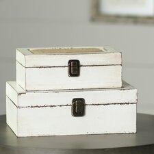 Brittany 2 Piece Decorative Box Set