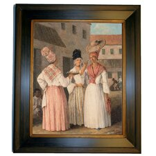 'A West Indian Flower Girl and Two other Free Women of Color 1769' by Agostino Brunias Framed Painting Print