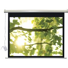 """Lectro IR QM """"A Series"""" Matte Black Electric Projection Screen"""