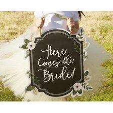 Romantic Garden Here Comes the Bride Sign