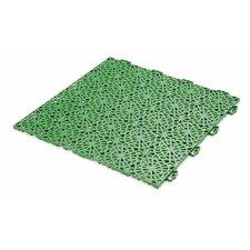 "Bergo 14.88"" x 14.88"" Polypropylene Loose Lay/Snap in Tiles in Spring Grass (Set of 14)"