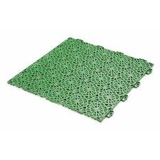 "Bergo 14.88"" x 14.88"" Polypropylene Loose Lay/Snap in Tiles in Spring Grass"