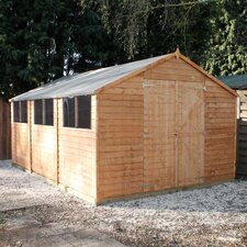 10 Ft. W x 15 Ft. D Wooden Storage Shed