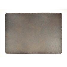 Andeline Antique Black Walrus Leather Placemat (Set of 4)