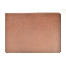Andeline Chestnut Buffalo Leather Placemat (Set of 4)