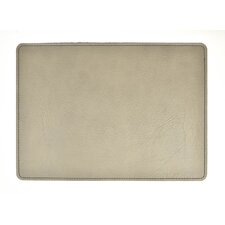 Andeline Grey Buffalo Leather Placemat