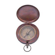Metal Push Button Compass Sculptures