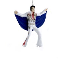 "4.5"" Elvis in Eagle Suit with Cape Ornament"