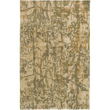 Zephyr Hand-Tufted Green/Brown Area Rug